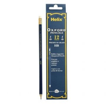 HELIX OXFORD HB PENCILS with ERASERS Box of 12